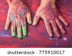child painted hands | Shutterstock . vector #775910017