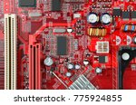 red printed computer... | Shutterstock . vector #775924855