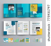 blue business brochure template ... | Shutterstock .eps vector #775931797