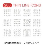 set of thin line icons... | Shutterstock .eps vector #775936774