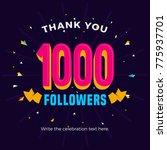 1000 followers card banner... | Shutterstock .eps vector #775937701