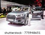 Small photo of Frankfurt, Germany, September 13, 2017: Audi Q7 e-tron quattro at 67th International Motor Show (IAA)