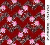 seamless floral geometric... | Shutterstock .eps vector #775951435