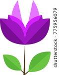 flat icon flower | Shutterstock .eps vector #775956079