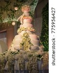 beautiful and huge wedding cake   Shutterstock . vector #775956427