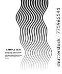 white black color. linear... | Shutterstock .eps vector #775962541