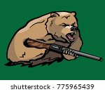 bear holding a rifle | Shutterstock .eps vector #775965439