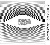 white black color. linear... | Shutterstock .eps vector #775966819