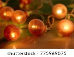 electric garland with red bulbs ...   Shutterstock . vector #775969075