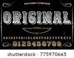 font alphabet script typeface... | Shutterstock .eps vector #775970665