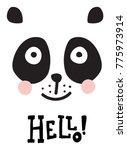 vector poster  nursery... | Shutterstock .eps vector #775973914