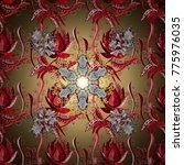 flower pattern | Shutterstock .eps vector #775976035
