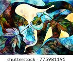 stained glass forever series.... | Shutterstock . vector #775981195