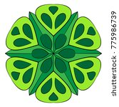 the colored mandala. a... | Shutterstock .eps vector #775986739