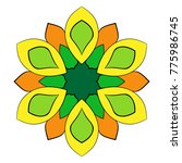 the colored mandala. a... | Shutterstock .eps vector #775986745