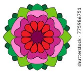 the colored mandala. a... | Shutterstock .eps vector #775986751