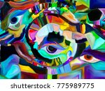 stained glass forever series.... | Shutterstock . vector #775989775