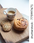 morning coffee with pastry... | Shutterstock . vector #775997671