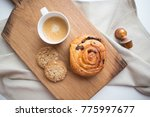 morning coffee with pastry... | Shutterstock . vector #775997677