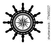 ship steering wheel abstract ... | Shutterstock .eps vector #77600227