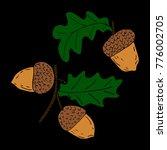 acorn vector illustration....   Shutterstock .eps vector #776002705