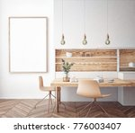 dining room and kitchen... | Shutterstock . vector #776003407