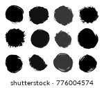 set of circle textured abstract ... | Shutterstock .eps vector #776004574