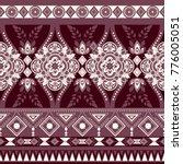 monochrome floral seamless... | Shutterstock .eps vector #776005051