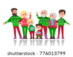 family celebration. christmas.... | Shutterstock .eps vector #776013799