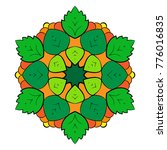 the colored mandala. a... | Shutterstock .eps vector #776016835