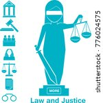 lady justice or iustitia vector ... | Shutterstock .eps vector #776024575