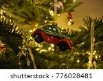 car christmas ornament hanging... | Shutterstock . vector #776028481