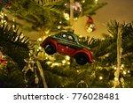car christmas ornament hanging... | Shutterstock . vector #776028481