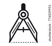 vector icon of geometry compass.... | Shutterstock .eps vector #776029951