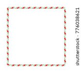 candy cane frame border for... | Shutterstock .eps vector #776038621