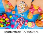 colorful candy  lollipops | Shutterstock . vector #776050771