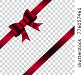 dark red shiny bow and ribbon... | Shutterstock .eps vector #776057461