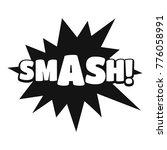 comic boom smash icon. simple...