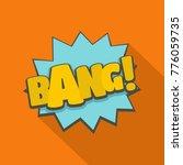 comic boom bang icon. flat... | Shutterstock .eps vector #776059735