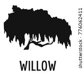 Willow Tree Icon. Simple...