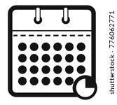 calendar business icon. simple...