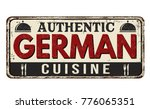 authentic german cuisine... | Shutterstock .eps vector #776065351