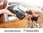contactless payment by phone. | Shutterstock . vector #776066584
