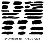 collection of hand drawn grunge ... | Shutterstock .eps vector #776067235