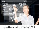 modern technologies in use woman | Shutterstock . vector #776068711