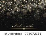 gold glitter particles... | Shutterstock . vector #776072191