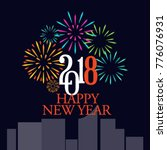 New Year Fireworks Vector...
