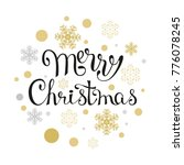card with lettering merry...   Shutterstock .eps vector #776078245