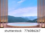 luxury bathroom with mountain... | Shutterstock . vector #776086267