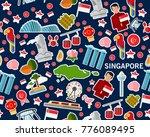 vector flat seamless texture... | Shutterstock .eps vector #776089495